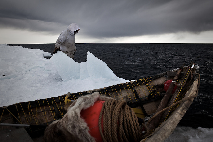 Images of Point Hope, Alaska - the oldest settlement in the Western Hemisphere, home to Inupiat whalers, and a site of the recent expansion of off-shore drilling announced by US President Barack Obama. These images were taken just days before the oil rig explosion and subsequent massive oil spil in the Gulf of Mexico.