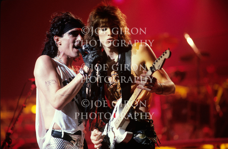 Various live photographs of the rock band, Ratt