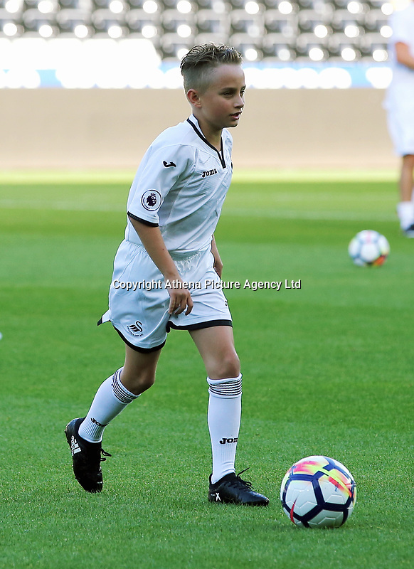 Ferrie Bodde's son during the Swansea Legends v Manchester United Legends at The Liberty Stadium, Swansea, Wales, UK. Wednesday 09 August 2017
