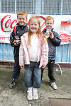 Leo, Daniel and Catherine Grey at the School Childrens Soccer Cup Finals in United Park...Photo NEWSFILE/Jenny Matthews.(Photo credit should read Jenny Matthews/NEWSFILE)....This Picture has been sent you under the condtions enclosed by:.Newsfile Ltd..The Studio,.Millmount Abbey,.Drogheda,.Co Meath..Ireland..Tel: +353(0)41-9871240.Fax: +353(0)41-9871260.GSM: +353(0)86-2500958.email: pictures@newsfile.ie.www.newsfile.ie.FTP: 193.120.102.198.
