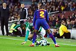 UEFA Champions League 2017/2018 - Matchday 6.<br /> FC Barcelona vs Sporting Clube de Portugal: 2-0.<br /> Bruno Cesar vs Nelson Semedo.