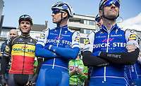 The Team QuickStep Floors power block ready for the pre-race team presentation<br /> <br /> 72nd Dwars door Vlaanderen 2017
