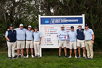 STANFORD, CA -- May 15, 2019. The Georgia Southern Eagles men's golf team takes fourth after Round 3 of the NCAA Regionals at Stanford University Golf Course.