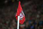 Corner flag during the Premier League match at Anfield Stadium, Liverpool. Picture date: December 11th, 2016.Photo credit should read: Lynne Cameron/Sportimage