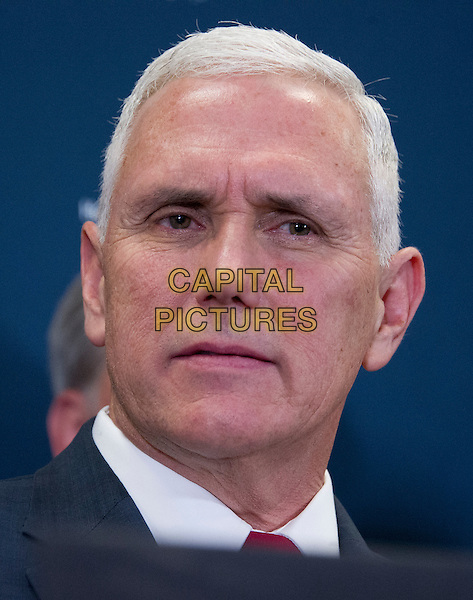United States Vice President-elect Mike Pence speaks to reporters after meeting with US House Republican Leadership on their plans to repel the Affordable Care Act (ACA) in the US Capitol in Washington, DC on Wednesday, January 4, 2017.<br /> CAP/MPI/CNP/RS<br /> &copy;RS/CNP/MPI/Capital Pictures