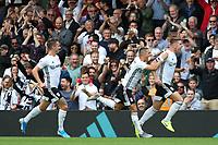 Fulham's Tom Cairney (right) celebrates scoring the opening goal <br /> <br /> Photographer David Shipman/CameraSport<br /> <br /> The EFL Sky Bet Championship - Fulham v Blackburn Rovers - Saturday 10th August 2019 - Craven Cottage - London<br /> <br /> World Copyright © 2019 CameraSport. All rights reserved. 43 Linden Ave. Countesthorpe. Leicester. England. LE8 5PG - Tel: +44 (0) 116 277 4147 - admin@camerasport.com - www.camerasport.com