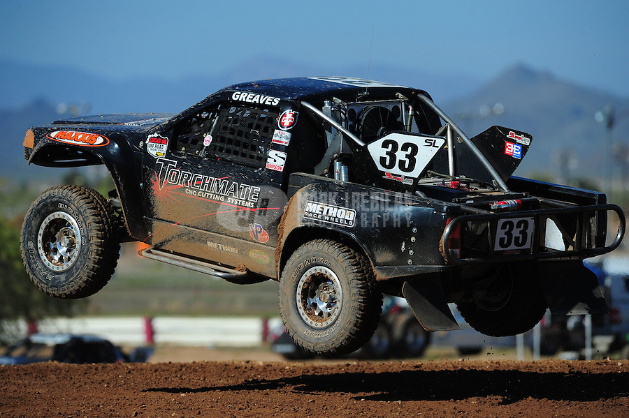 Apr 16, 2011; Surprise, AZ USA; LOORRS driver C.J. Greaves (33) during round 3 at Speedworld Off Road Park. Mandatory Credit: Mark J. Rebilas-.
