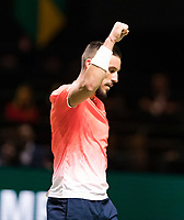 Rotterdam, The Netherlands, 13 Februari 2019, ABNAMRO World Tennis Tournament, Ahoy,  Damir Dzumhur (BIH) winner<br /> Photo: www.tennisimages.com/Henk Koster