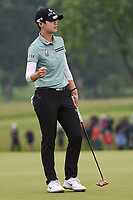 Sung Hyun Park (KOR) reacts to sinking her birdie putt on 18 for soul second place in the KPMG Women's PGA Championship, Hazeltine National, Chaska, Minnesota, USA. 6/23/2019.<br /> Picture: Golffile | Ken Murray<br /> <br /> <br /> All photo usage must carry mandatory copyright credit (© Golffile | Ken Murray)