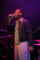 LONDON, ENGLAND - APRIL 9: Leon Bridges performing at The Jazz Caf&eacute; on April 9, 2018 in London, England.<br /> CAP/MAR<br /> &copy;MAR/Capital Pictures
