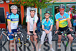 When Timmy Met Sam: Taking part in the When Timmy Met Sam 56K Leisure Cycle hosted by Feale Rangers GAA in association with Listowel Cycling Club on Saturday last were Ger Hassett, Tommy Kennelly, Mary Lyons & John Kennelly.