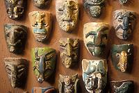 Danza del Murcielago masks from Guerrero, Rafael Coronel Museum, Zacatecas, Mexico