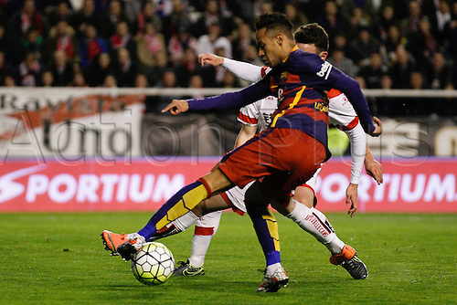 03.03.2016. Madrid, Spain.  Neymar Da Silva Santos Junior (11) FC Barcelona. La Liga match between Rayo Vallecano and FC Barcelona at the Vallecas stadium in Madrid, Spain