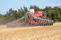 Direct drilling OSR , placing DPA and applying slug pellets with a 8m drill - Lincolnshre, August