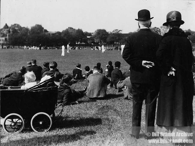Watching cricket in Regent's Park, London 1936