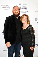BURBANK - APR 27: Haroot Vartanian, Sona Agazarian at the Faith, Hope and Charity Gala hosted by Catholic Charities of Los Angeles at De Luxe Banquet Hall on April 27, 2019 in Burbank, CA