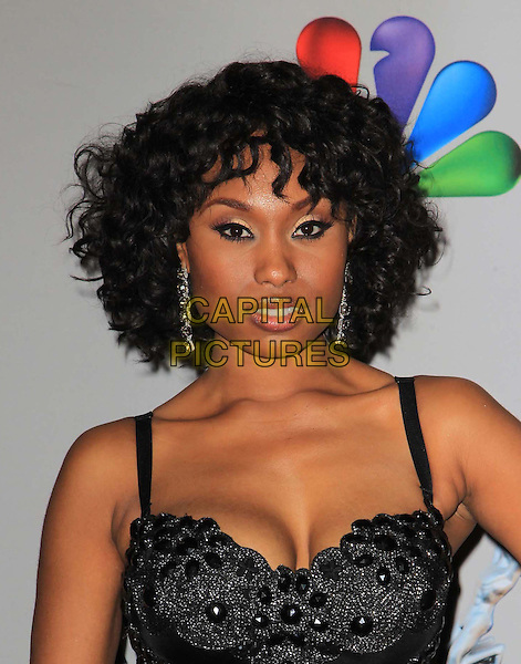 Angell Conwell.44th NAACP Image Awards - Press Room Held At The Shrine Auditorium, Los Angeles, California, USA, .1st February 2013..portrait headshot  cleavage black beaded dress .CAP/ADM/KB.©Kevan Brooks/AdMedia/Capital Pictures.
