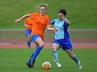 Action from the Women's Central League football match between Wellington United Diamonds and Seatoun AFC at Newtown Park in Wellington, New Zealand on Saturday, 27 May 2017. Photo: Dave Lintott / lintottphoto.co.nz