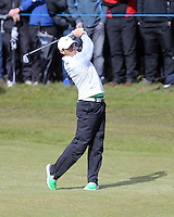 Friday 29th May 2015; Rory McIlroy, pays his approach to the 17th<br /> <br /> Dubai Duty Free Irish Open Golf Championship 2015, Round 2 County Down Golf Club, Co. Down. Picture credit: John Dickson / SPORTSFILE