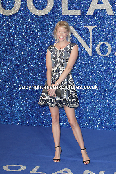NON EXCLUSIVE PICTURE: MATRIXPICTURES.CO.UK<br /> PLEASE CREDIT ALL USES<br /> <br /> WORLD RIGHTS<br /> <br /> Swedish model Caroline Winberg attending the Zoolander 2 VIP film screening, at Empire Leicester Square in London.<br /> <br /> FEBRUARY 4th 2015<br /> <br /> REF: GBH 16316