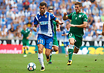 Leo Baptistao in action during La Liga Game between RCD Espanyol agaisnt Leganes at RCDE Stadium