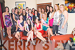 Emily Doheny and Lisa Walsh, both Laois, pictured with some of their Kerry friends as they celebrated their hen nights in Lord Kenmares restaurant, Killarney on Saturday night.