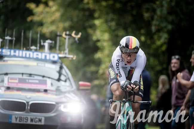 Tony Martin (DEU/Jumbo-Visma)<br /> Elite Men Individual Time Trial<br /> from Northhallerton to Harrogate (54km)<br /> <br /> 2019 Road World Championships Yorkshire (GBR)<br /> <br /> ©kramon
