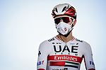 Tadej Pogacar (SLO) UAE Team Emirates at sign on before the start of Stage 10 of Tour de France 2020, running 168.5km from Ile d'Oléron to Ile de Ré, France. 8th September 2020.<br /> Picture: ASO/Pauline Ballet | Cyclefile<br /> All photos usage must carry mandatory copyright credit (© Cyclefile | ASO/Pauline Ballet)
