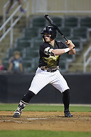 Evan Skoug (11) of the Kannapolis Intimidators at bat against the Hagerstown Suns at Kannapolis Intimidators Stadium on May 4, 2018 in Kannapolis, North Carolina.  The Intimidators defeated the Suns 11-0.  (Brian Westerholt/Four Seam Images)