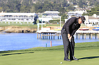 Phil Mickelson (USA) putts on the 5th green during Sunday's Final Round of the 2018 AT&amp;T Pebble Beach Pro-Am, held on Pebble Beach Golf Course, Monterey,  California, USA. 11th February 2018.<br /> Picture: Eoin Clarke | Golffile<br /> <br /> <br /> All photos usage must carry mandatory copyright credit (&copy; Golffile | Eoin Clarke)
