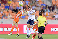Houston, TX - Thursday Aug. 18, 2016: Denise O'Sullivan, Christine Nairn during a regular season National Women's Soccer League (NWSL) match between the Houston Dash and the Washington Spirit at BBVA Compass Stadium.