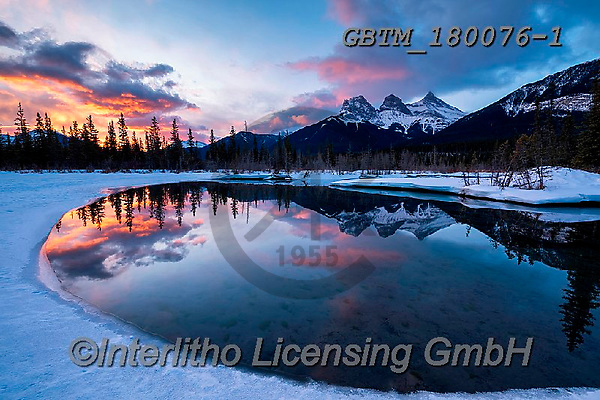 Tom Mackie, LANDSCAPES, LANDSCHAFTEN, PAISAJES, photos,+Alberta, Bow River, Canada, Canadian, Canadian Rockies, North America, Three Sisters, Tom Mackie, USA, cloud, clouds, cloudsc+ape, dramatic outdoors, horizontal, horizontals, landscape, landscapes, mirror image, mountain, mountains, reflect, reflectin+g, reflection, reflections, rugged, season, snow, sunrise, sunrises, sunset, sunsets, time of day, weather, winter, wintery,A+lberta, Bow River, Canada, Canadian, Canadian Rockies, North America, Three Sisters, Tom Mackie, USA, cloud, clouds, cloudsca+,GBTM180076-1,#l#, EVERYDAY