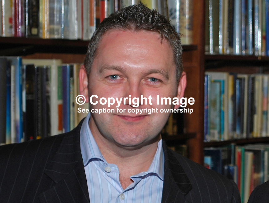 William Crawley, Belfast, N Ireland, UK, broadcaster, journalist, academic, 200902241800..Copyright Image from Victor Patterson, 54 Dorchester Park, Belfast, UK, BT9 6RJ..Tel: +44 28 9066 1296.Mob: +44 7802 353836.Voicemail +44 20 8816 7153.Skype: victorpattersonbelfast.Email: victorpatterson@mac.com.Email: victorpatterson@ireland.com (back-up)..IMPORTANT: If you wish to use this image or any other of my images please go to www.victorpatterson.com and click on the Terms & Conditions. Then contact me by email or phone with the reference number(s) of the image(s) concerned.