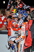 18th March 2018, Losail International Circuit, Lusail, Qatar; Qatar Motorcycle Grand Prix, Sunday race day; Andrea Dovizioso and Marc Marquez