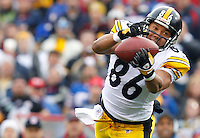 BUFFALO, NY - NOVEMBER 28:  Hines Ward #86 of the Pittsburgh Steelers catches a pass during the game against the Buffalo Bills on November 28, 2010 at Ralph Wilson Stadium in Buffalo, New York.  (Photo by Jared Wickerham/Getty Images)