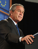 Washington, D.C. - June 30, 2005 --  United States President George W. Bush makes remarks on the upcoming G8 Summit at the Freer Gallery in Washington, D.C. on June 30, 2005.<br /> Credit: Ron Sachs - Pool