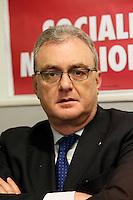 NAPOLI: PRESENTAZIONE LISTE CAMPANIA FRATELLI D'ITALIA.NELLA FOTO LUIGI RISPOLI  n? 2 SENATO CIRC CAMPANIA