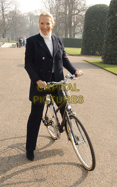 PRINCESS MICHAEL OF KENT.Attending a photocall to launch Pedal With The Parks, a national cycling event taking place in and around Center Parcs this summer, which aims to raise money for charities SPARKS and The National Byway. The Orangery, Kensington Palace, London, England. .March 27th 2007.full length black suit trousers jacket riding bike bicycle .CAP/WIZ.©Wizard/Capital Pictures