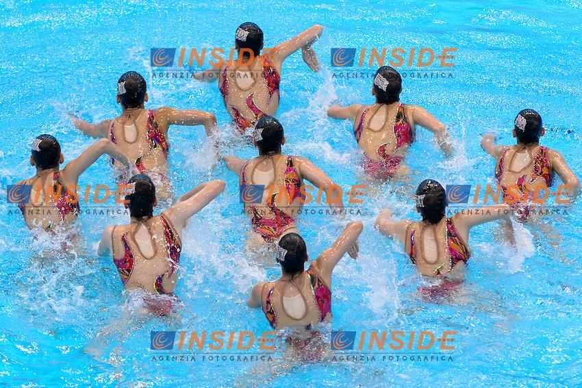 PORTUGAL POR <br /> COSTA Barbara GOMES Diana BAPTISTA Ana Isabel <br /> MARTINS Maria Do Carmo FARIA Filipa VIEIRA Cheila <br /> GONCALVES Maria Beatriz GONCALVES Maria M. <br /> GAMA Beatriz <br /> Free Combination Final <br /> London, Queen Elizabeth II Olympic Park Pool <br /> LEN 2016 European Aquatics Elite Championships <br /> Synchronized Swimming <br /> Day 04 12-05-2016<br /> Photo Andrea Staccioli/Deepbluemedia/Insidefoto