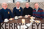 Enjoying the Chernobyl Children's Coffee morning at Killarney Golf and Fishing Club last Thursday. <br /> L-R Denis Cronin (president of Killarney Golf Club), Michael Quirke (Captain), Junior Finnegan and Mick Leahy.