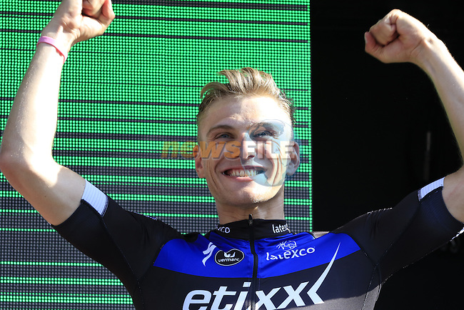 Marcel Kittel (GER) wins Stage 2 of the 2016 Giro d'Italia running 190km from Arnhem to Nijmegen, The Nethrerlands. 7th May 2016.<br /> Picture: Eoin Clarke | Newsfile<br /> <br /> <br /> All photos usage must carry mandatory copyright credit (&copy; Newsfile | Eoin Clarke)