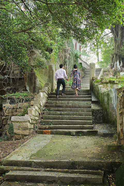 Steps Up To The Residence, Gulangyu, Xiamen (Amoy).