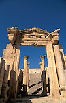 Jordan, Jerash. The Cathedral&amp;#xA;<br />