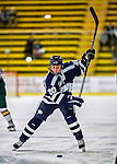 2 February 2013: University of New Hampshire Wildcat forward Jessica Hitchcock, a Junior from LaSalle, Ontario, in action against the University of Vermont Catamounts at Gutterson Fieldhouse in Burlington, Vermont. The Lady Wildcats defeated the Lady Catamounts 4-2 in Hockey East play. Mandatory Credit: Ed Wolfstein Photo