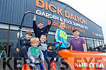 Fionn, Aodhan, Kieran, Oisisn  and Geared McNamara from Lisselton with Cathal Dalton from Hospital pictured last Saturday at the opening of Dick Dalton's - Garden & Tools Supplies in Abbeyfeale