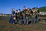 AZ, Grand Canyon National Park, Arizona, Grand Canyon Railway from Williams to the South Rim, Band Entertainment in the railroad station.Photo Copyright: Lee Foster, lee@fostertravel.com, www.fostertravel.com, (510) 549-2202.azgran238