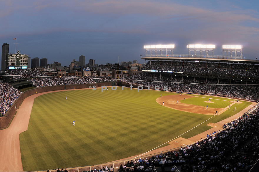 An overall view of Wrigley Field in Chicago, during a game between the Chicago Cubs and the Cincinnati Reds on April 16, 2008. (AP Photo/Chris Bernacchi)
