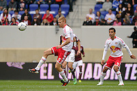Markus Holgersson (5) of the New York Red Bulls. The New York Red Bulls defeated the Colorado Rapids 4-1 during a Major League Soccer (MLS) match at Red Bull Arena in Harrison, NJ, on March 25, 2012.