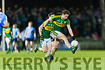 Tadhg Morley and Paul Murphy Kerry in action against  Dublin in the National League in Austin Stack park on Saturday night.