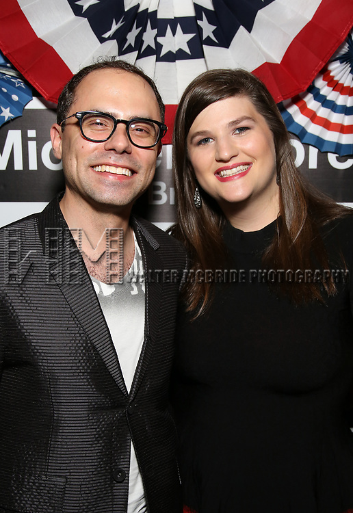 Andrew Lazarow and Rachel Routh attend the Broadway Opening Night - After Party for 'Michael Moore on Broadway - The Terms Of My Surrender' at Bryant Park Grill on August 10, 2017 in New York City.
